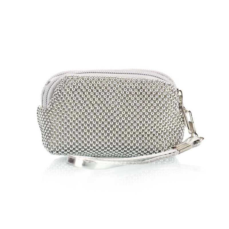 Fashion Mini evening bag evening bag with bead bag women's Korean Zipper bag hot sale day clutch female 5 Colors цена