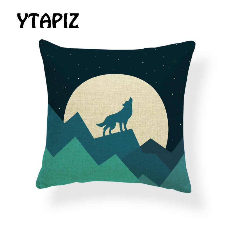 Personalizado Cor Geométrica Conjunto Travesseiro Cão Lobo Veados Girafa Árvore Zebra Preguiçoso Panda Vaca Decorativo Quarto Sofá Capa de Almofada