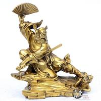 Chinese Taoism Temple Bronze Copper Zhong Kui Zhong Kui The Ghost buster Statues