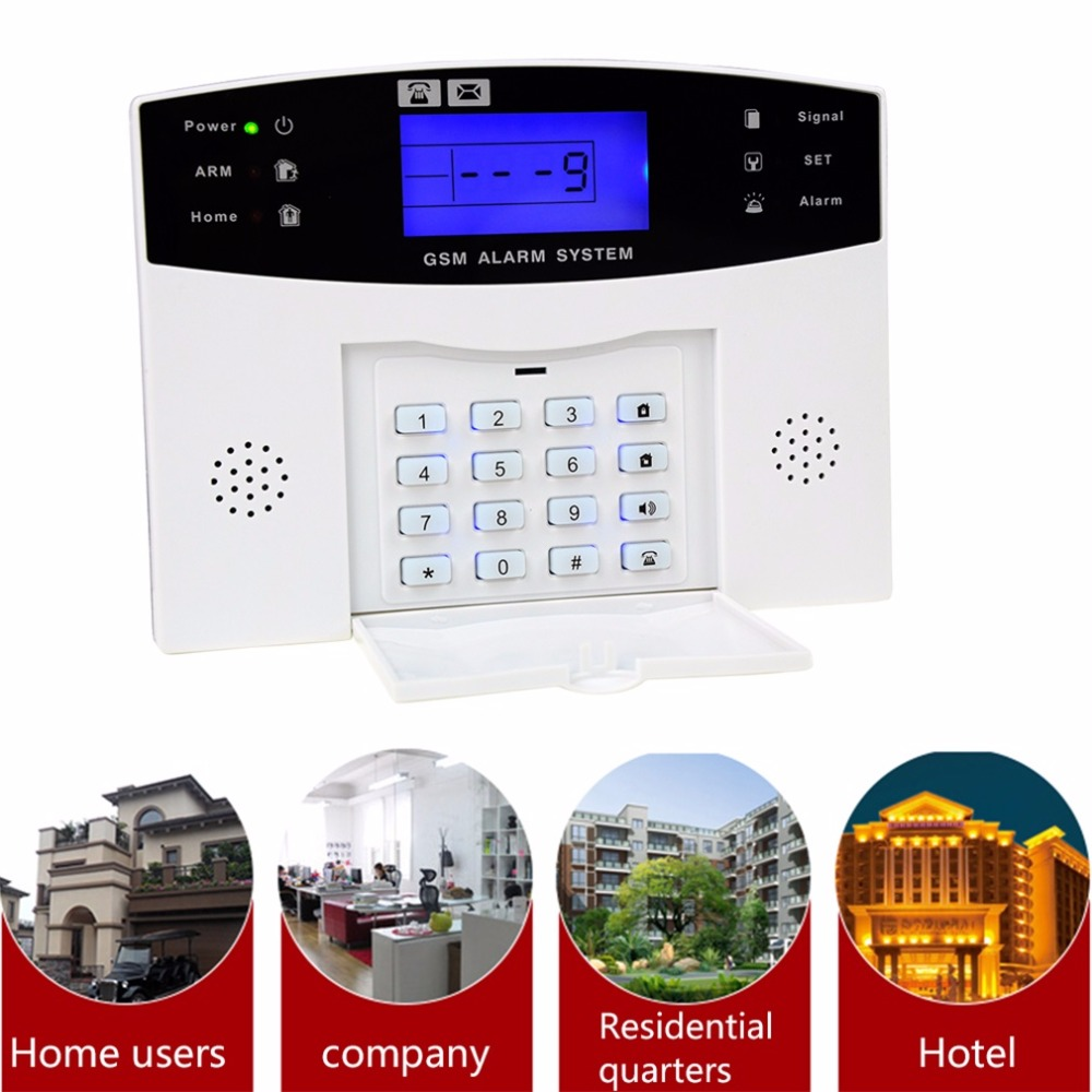 YA-500-GSM Home Security GSM Alarm System Alarm Host with LCD Call for Intruder Burglar 7 Wired And 99 Wireless Defense Zones free shipping 16 zones wired and wireless alarm control pane home security alarm host wireless and wired 850 900 1800 1900mhz