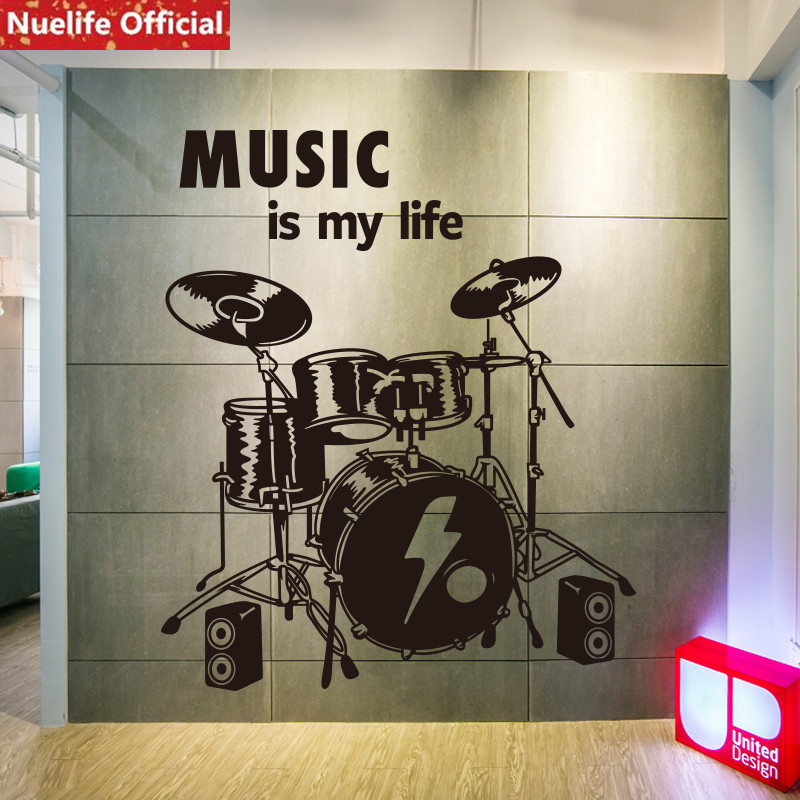 Art music wall stickers living room bar dance instrument classroom training room study room decoration personality wall stickers