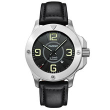 Parnis Commander Seriers Luminous Mens Sapphire Glass Leather Watchband Military Sport Automatic Mechanical font b Watch