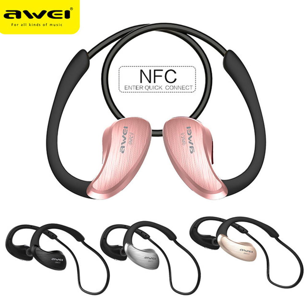 Awei Sport Blutooth Cordless Earbud Earpiece Wireless Headphone Headset Auriculares Bluetooth Earphone For In Ear Phone With Mic wireless bluetooth earphone headphones s9 sport earpiece headset with tf card slot 8g auriculares with micro for iphone android