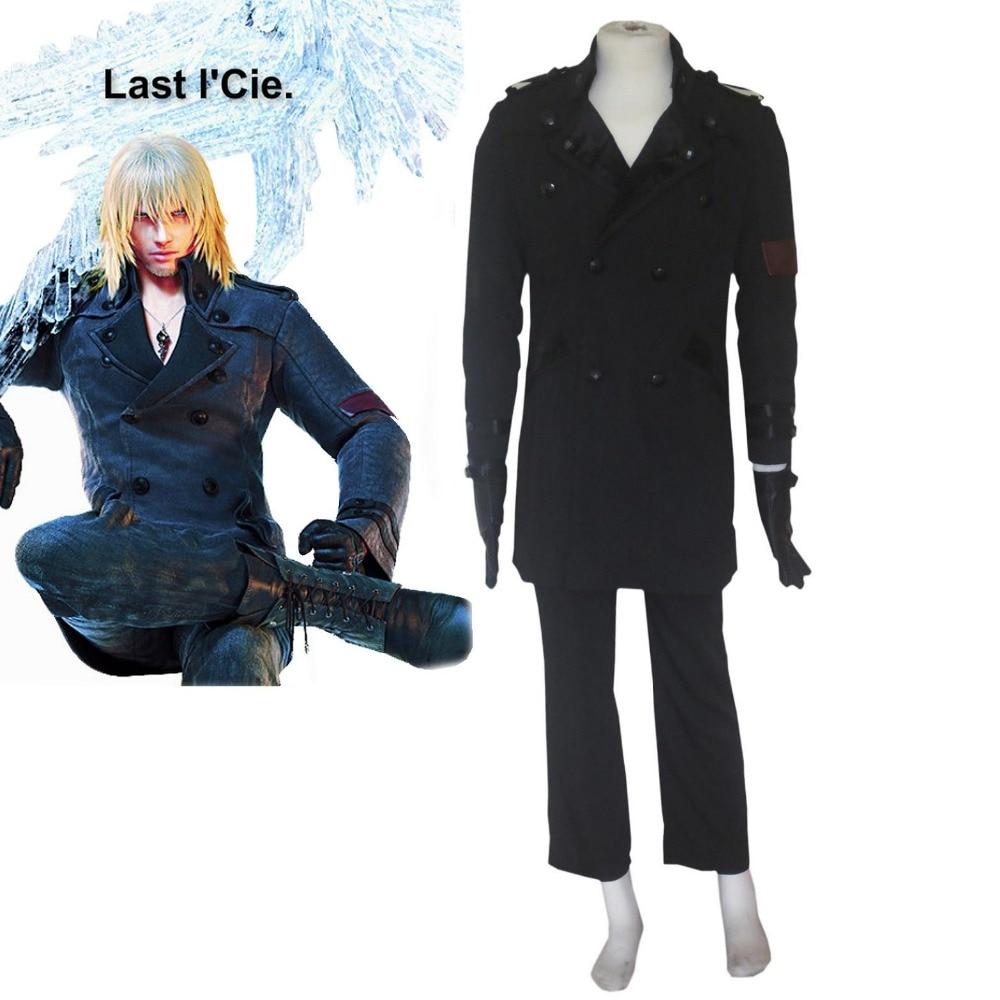 Haute-Q unisexe Cos Final Fantasy XIII neige Villiers Cosplay Costumes ensembles de costume