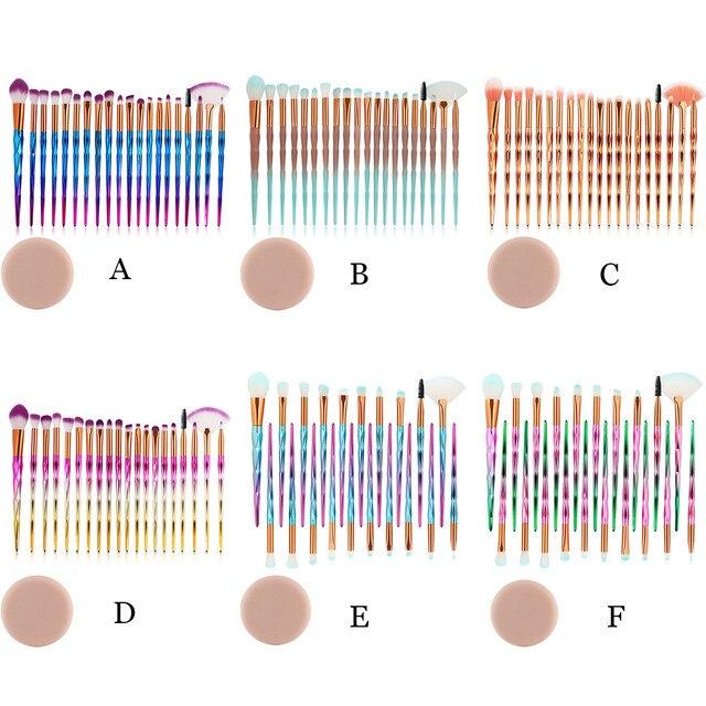 MAANGE Brush 20PCS make up brushes Foundation Eyebrow Eyeliner Blush Cosmetic foundation brochas maquillaje