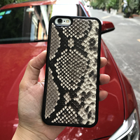 Premium leather cell phone cases python leather back cover for iphone Xr Xs Max Mobile phone accessories case for iphone 7 plus