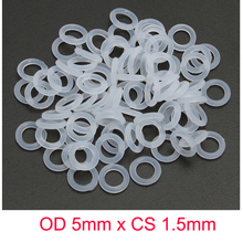 OD 5mm x CS 1.5mm SILICONE Translucent O ring O-ring Oring Seal Rubber цены