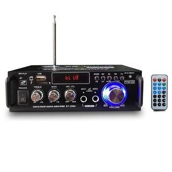 12V/ 220V BT-298A 2CH LCD Display Digital HIFI Audio Stereo Power Amplifier Bluetooth FM Radio Car Home with Remote Control pga2311 volume stereo pre amplifier preamp board with lcd and remote control switching power suppl