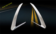 Chrome Front Head Light Lamp Eyelid Eyebrow Molding Garnish Cover Trim 2 PCS For Audi Q5 2009 2010 2011 2012(China)