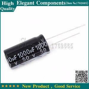 10PCS 50 V / 1000 UF 1000UF 50V Aluminum Electrolytic Capacitors Size 13*25MM 50V 1000UF Electrolytic capacitor(China)