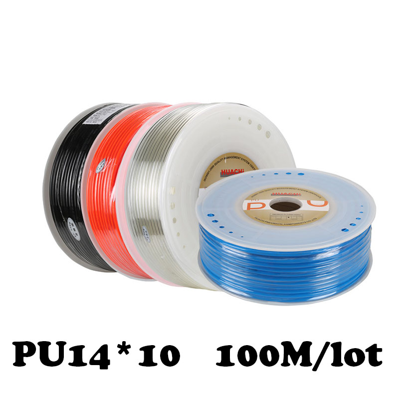 цена на High pressure air compressor PU tube 14*10mm air pipe to air compressor pneumatic component red 100m/rollpneumatics-tube