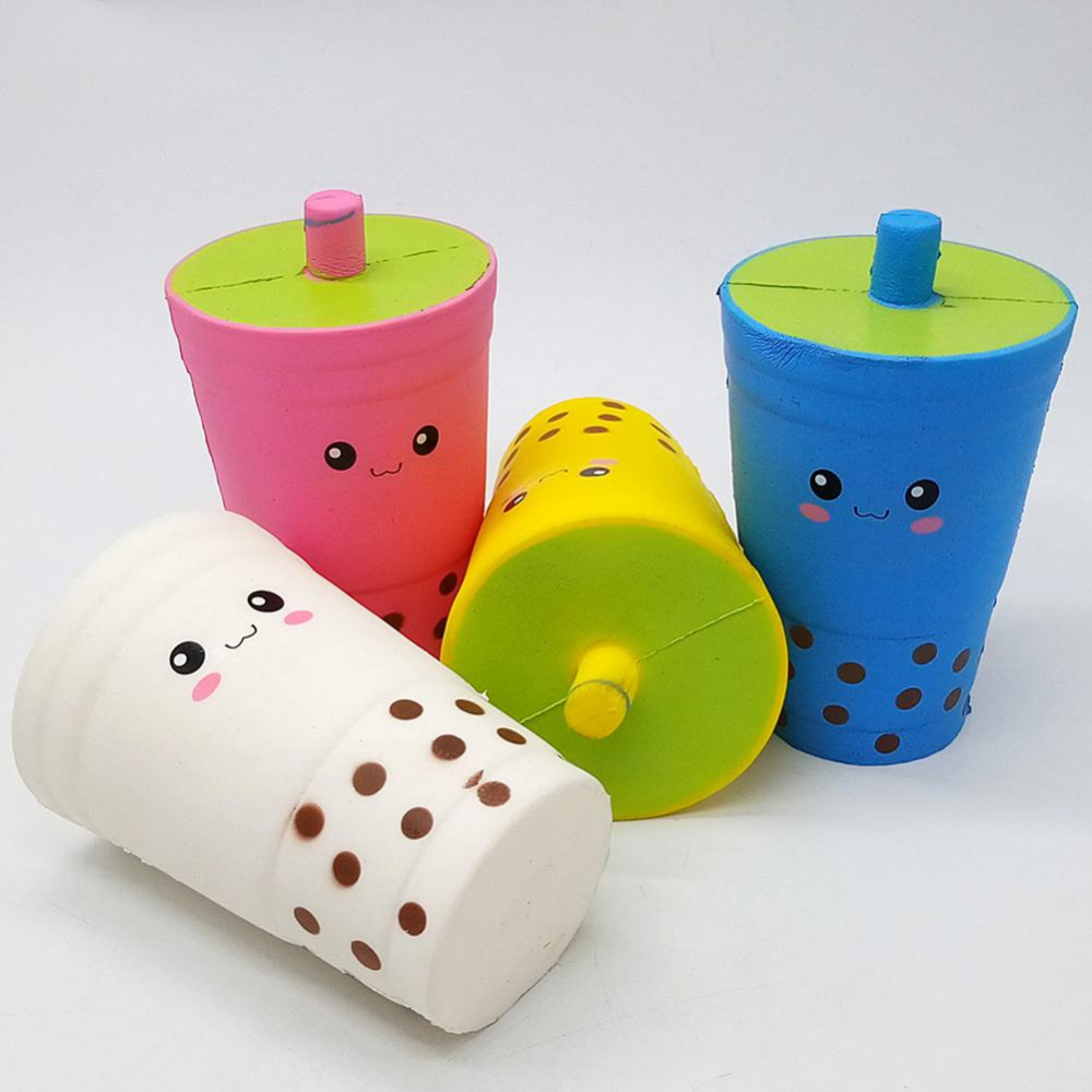 New Squishy Antistress Slow Rebound Sippy Cup Coke Cup Coffee Cup Pu Slow Rebound Milk Tea Cup Decompression Toys For Children