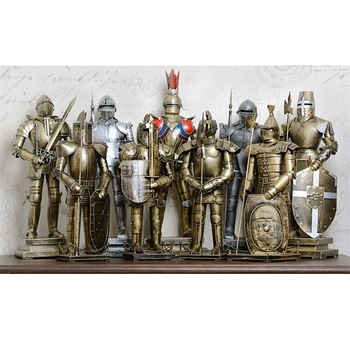 Ancient Rome Ornament Armor Warrior Character Model of Hero Living Room Iron Crafts Soldiers Statue Figure bar decorate Gift