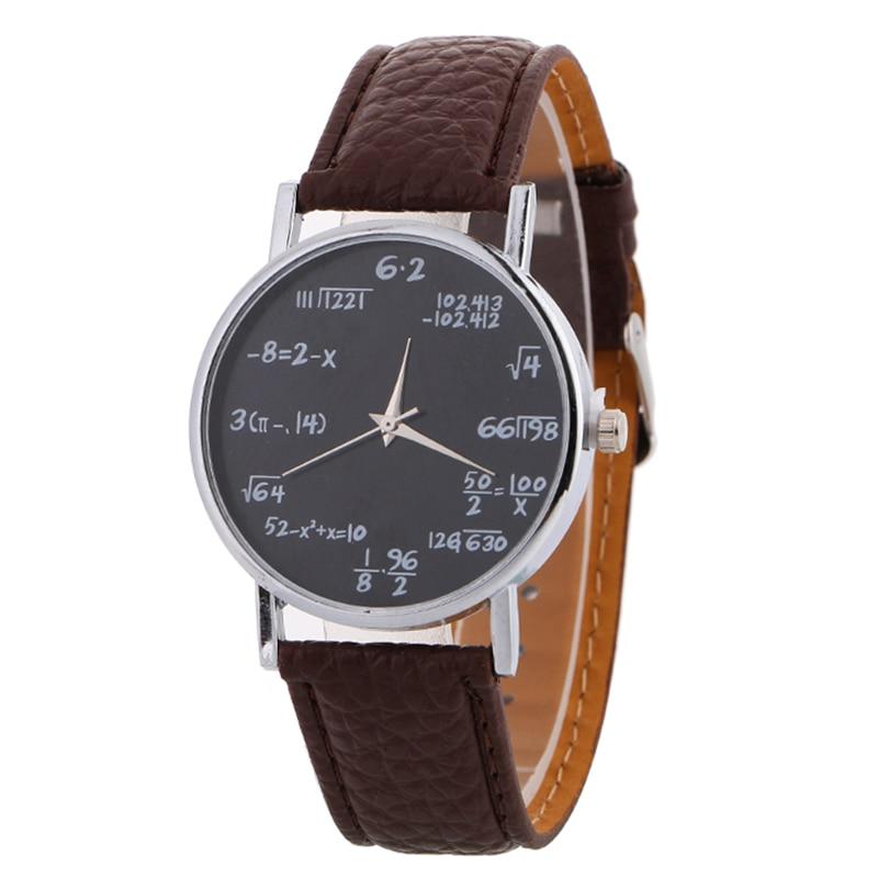 new fashion maths formula watch leather watchband women personalized