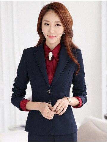 2015 Spring Women Suits Office Lady Coat Women Business Suits Slim ...