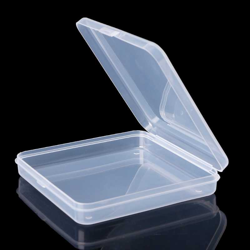 Square Transparent Plastic Jewelry Storage Boxes Beads Ring Box earrings Case necklace Organizer Make-up Table Box