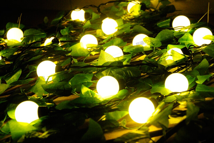 Fée 10 m LED 4 cm grande boule chaîne guirlande noël lumières à vendre nouvel an vacances fête mariage luminaria décoration lampes