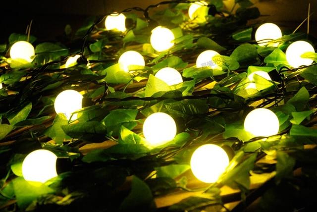 4040b53b6f Fada 10 m LED 4 cm grande cadeia de bola guirlanda de natal luzes para venda