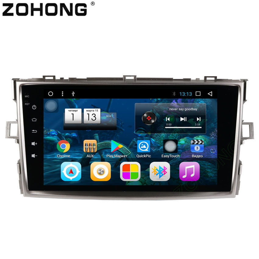 2 din 8inch Octa 8 Core 2G 32Gb Android Car DVD multimedia player for Toyota Verso