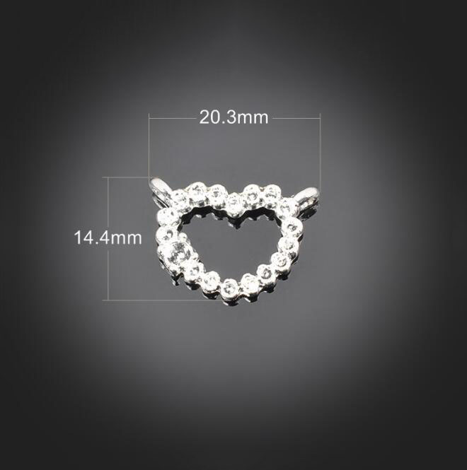 Купить с кэшбэком 100pcs Antique Silver 2 Holes Charms Pendant - Jewelry Accessories Findings For Necklace Bracelet Metal Fashion Bag 20.3X14.4mm
