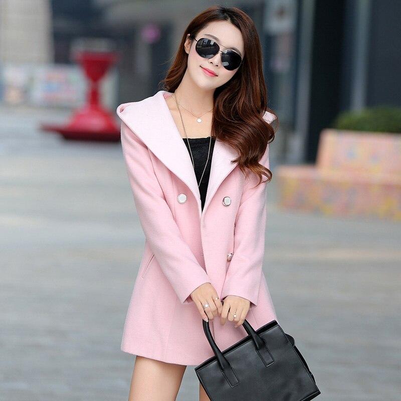 FGLAC nouveautés 2018 longue manteaux d'hiver femmes veste femme Mélanges de laine manteau chaud dames De Mode casual femmes manteaux
