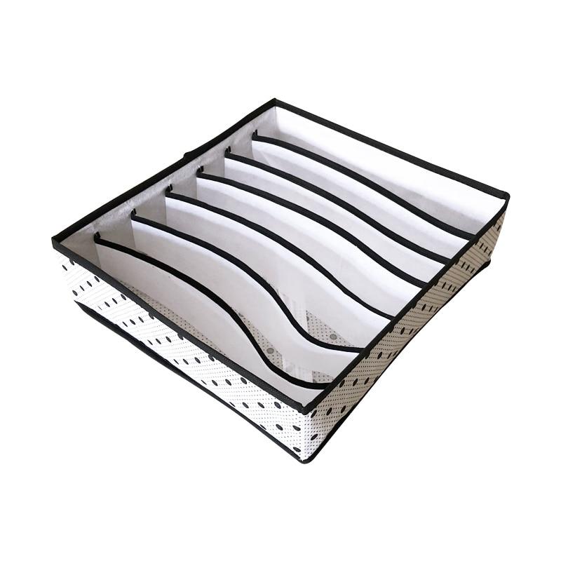 3PCS/SET Foldable Underwear Organizer Bra Tie Socks Clothes Storage Box Container Wardrobe Closet Organizer Drawer Dividers Case