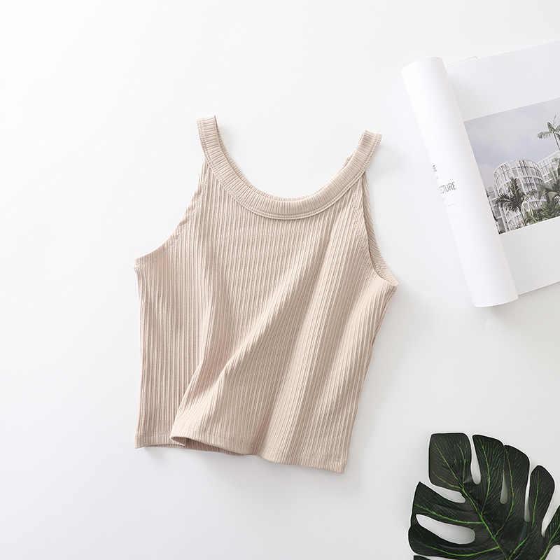 夏セクシーな女性オフショルダータンク作物は女性ニットキャミソール丈ノースリーブショート Tシャツ C001