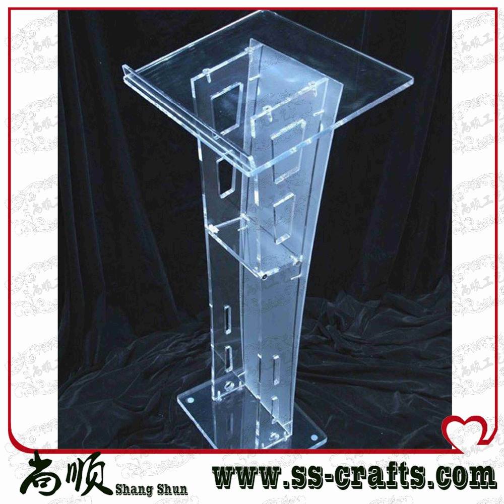 Popular transparent knockdown acrylic lectern for schoolPopular transparent knockdown acrylic lectern for school