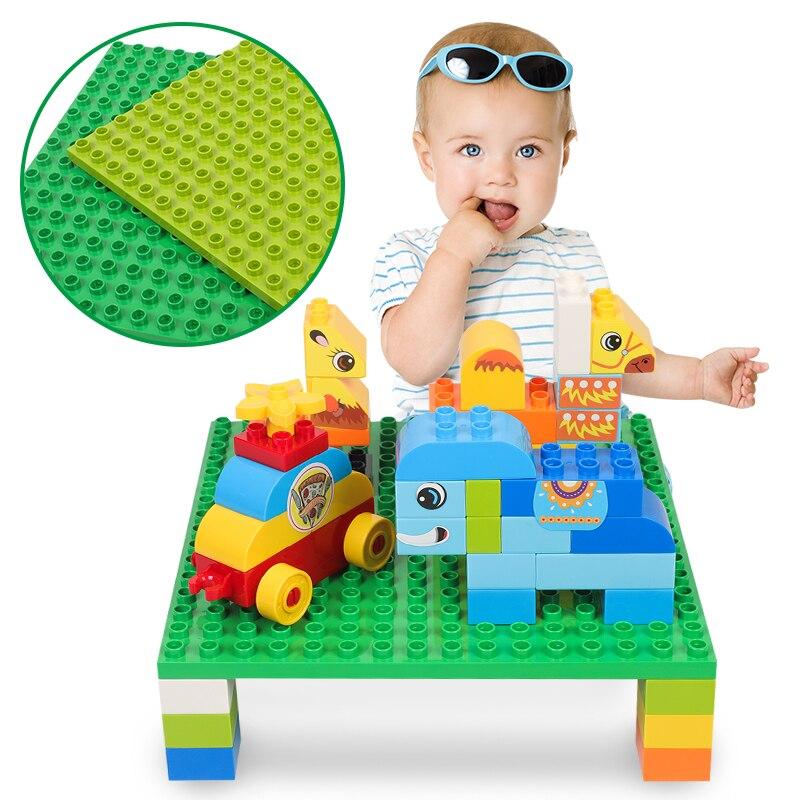 16X16Points Double face grande taille points Base plaque 25X25CM Compatible lego Duploes blocs jouets pour enfants de plus de 3 ans