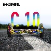 Koowheel 10 بوصة 2 عجلات الذكية hoverboards 4400 مللي أمبير بطارية samsuang ذاتية التوازن سكوتر الكهربائية