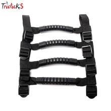 Triclicks 4x Car Accessories Roll Bar Grab Handles New Black Unlimited Grab Handle Grip Coat Hook For Jeep Wrangler JK TJ CJ YJ