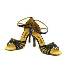 YOVE Dance Shoes PU Women's Latin/ Salsa Dance Shoes 3.5″ Slim High Heel More Color w121-62