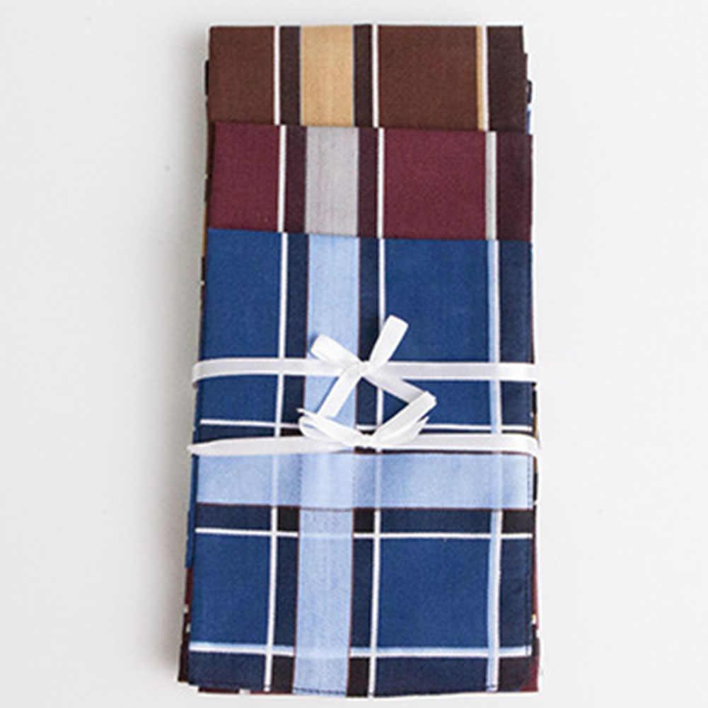 3 шт многоцветная клетчатая полоска мужское карманное квадратное бизнес полотенце для сундуков Карманный платок 43*43 см мужские хлопковые платки