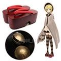 Japanese Senbonzakura Kagamine Rin Geisha Red High Heel Geta Clog Kimono Cosplay