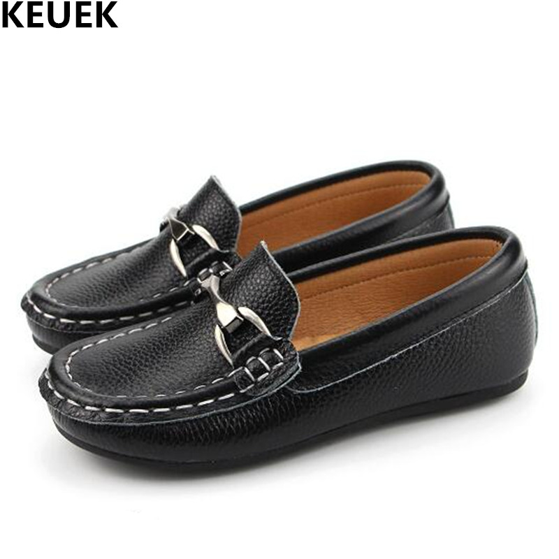 New Fashion Loafers Children Genuine Leather Shoes Boys Baby Casual Anti-Slippery Flats Toddler Shoes Dress Kids Flats 04