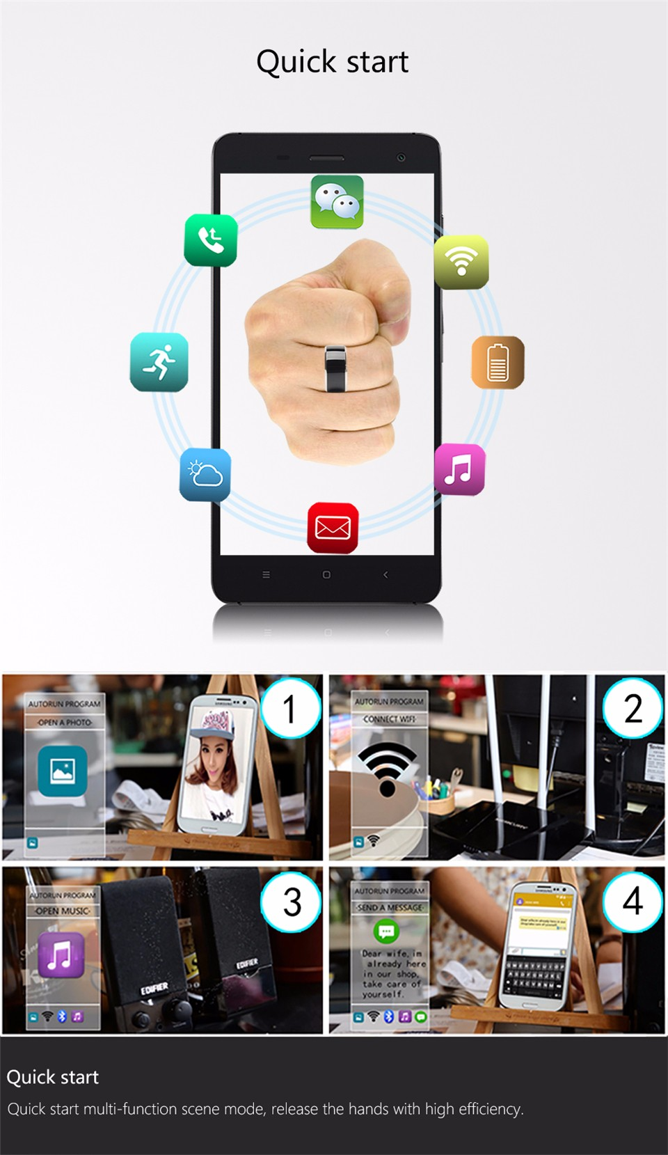 Jakcom R3F Smart Ring For High Speed NFC Electronics Phone Smart Accessories 3-proof App Enabled Wearable Technology Magic Ring 12