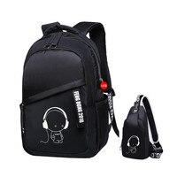 2 adet/takım çocuklar için okul çantaları erkek bookbag omuzdan askili çanta çocuk sırt çantaları okul sırt çantası erkek göğüs çantası paketi adam sırt çantası
