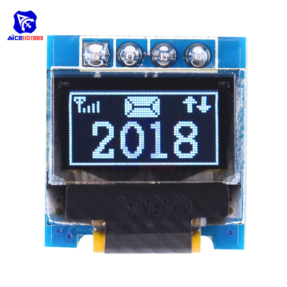 0.49 Inch OLED Display Module 128×32 SSD1306 I2C IIC Interface 4 Pin 3.3-5V For Arduino
