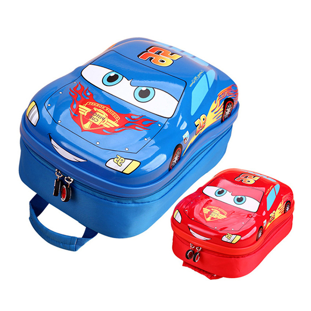 Children School Bags 3d Car Backpacks for Teenagers Girls Boys Toddler Kids Book Bag Kindergarten Cartoon Rucksack Mochila A0289