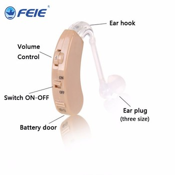 Auditory Apparatus Headset Deaf Behind Analog Hearing Aid S-9C Adjustable Tone Mini Device Elderly Deaf Amplifier Drop Shipping