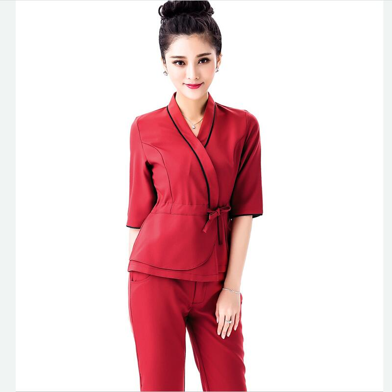 Popular spa uniform buy cheap spa uniform lots from china for Spa uniform patterns