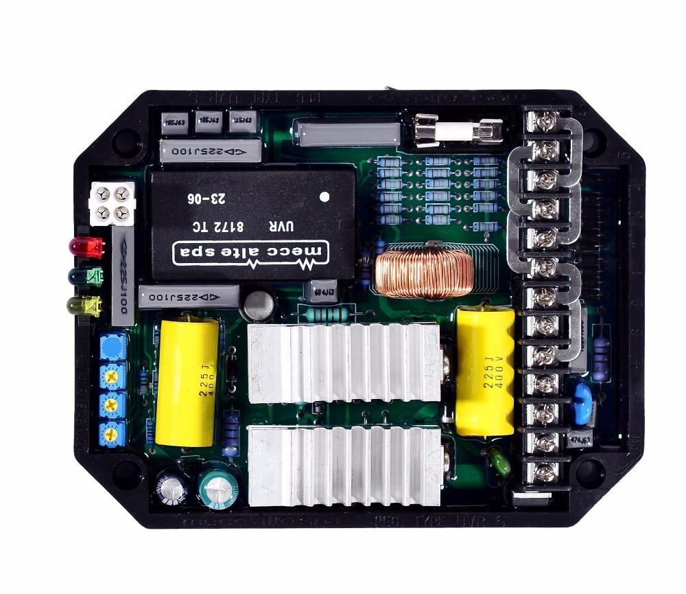 mecc alte spa AVR UVR6 Automatic Voltage Regulator China Powerly Generator Stabilizer Alternator Single Three Phase Adjuster цена 2017
