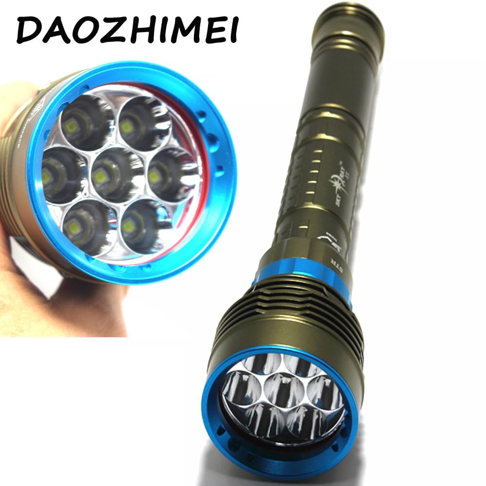 2018 New 14000 Lumen Underwater 200m Torch 7 X Xm-l2 Led Scuba Diving Flashlight Light For 3x18650 Or 26650 Battery
