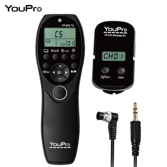 YouPro YP 870 II L1 2.4G 32 قنوات اللاسلكية التحكم عن بعد LCD الموقت مصراع الإفراج الارسال استقبال للكاميرا