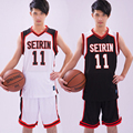 KUROKO BALONCESTO SEIRIN Escuela N0.11 Kuroko Tetsuya Cosplay Camiseta de Baloncesto Kuroko no Basuke Cosplay Sport Wear