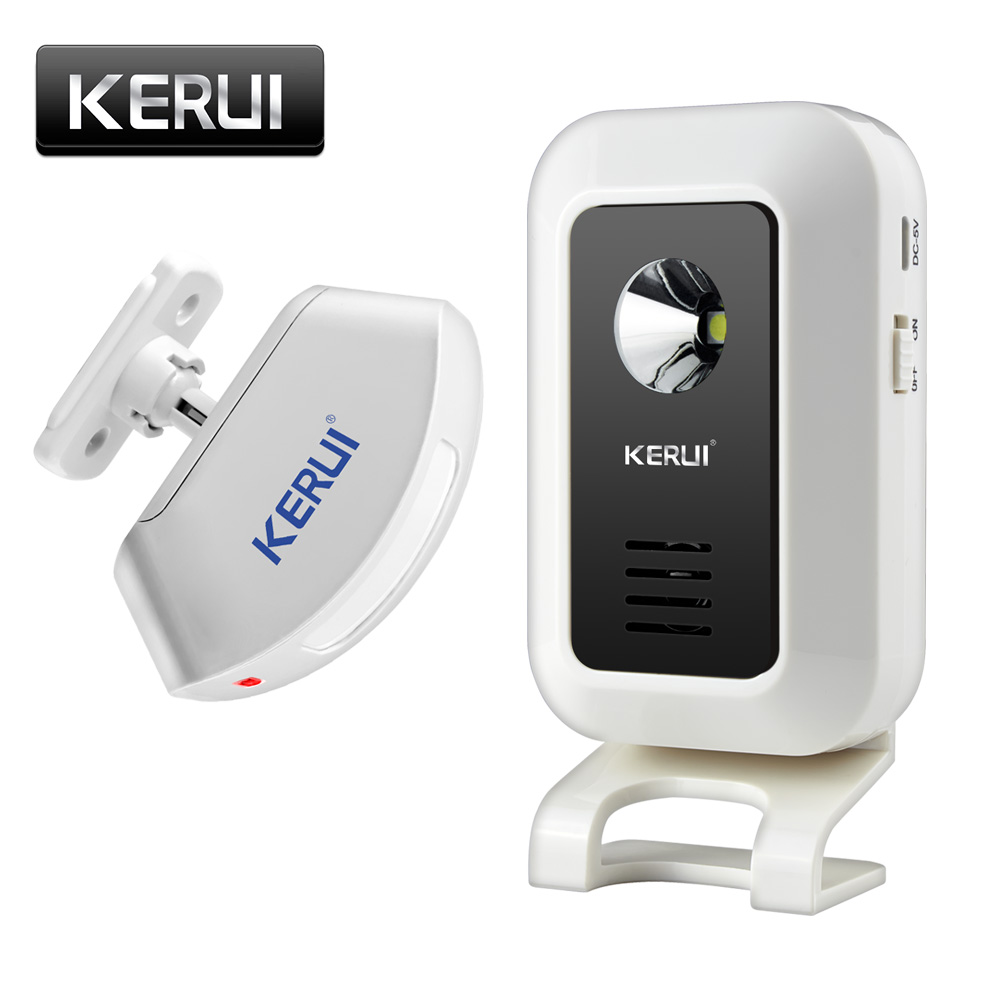 KERUI Wireless Shop Store Welcome Door Entry Chime Smart Doorbell With Button Curtains Infrared Motion Detector Door Alarm qiachip 2017 brand wireless digital doorbell with pir motion sensor infrared detector induction alarm door bell button home diy