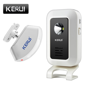KERUI Wireless Shop Store powitanie na drzwi dzwonek wejściowy inteligentny dzwonek z przyciskami zasłony wykrywacz ruchu na podczerwień dzwonek do drzwi tanie i dobre opinie Drzwi Okna Czujnik DC 5V 1 welcome chime Alarm 117mm X 62mm X 27mm FR Zdalnego kontrolera 30 remote control and Alarm system detector