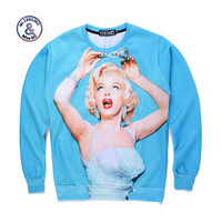 2017 Mr 1991INC Miss GO Up To Date Men Women Harajuku Style 3D Printing Marilyn Monroe