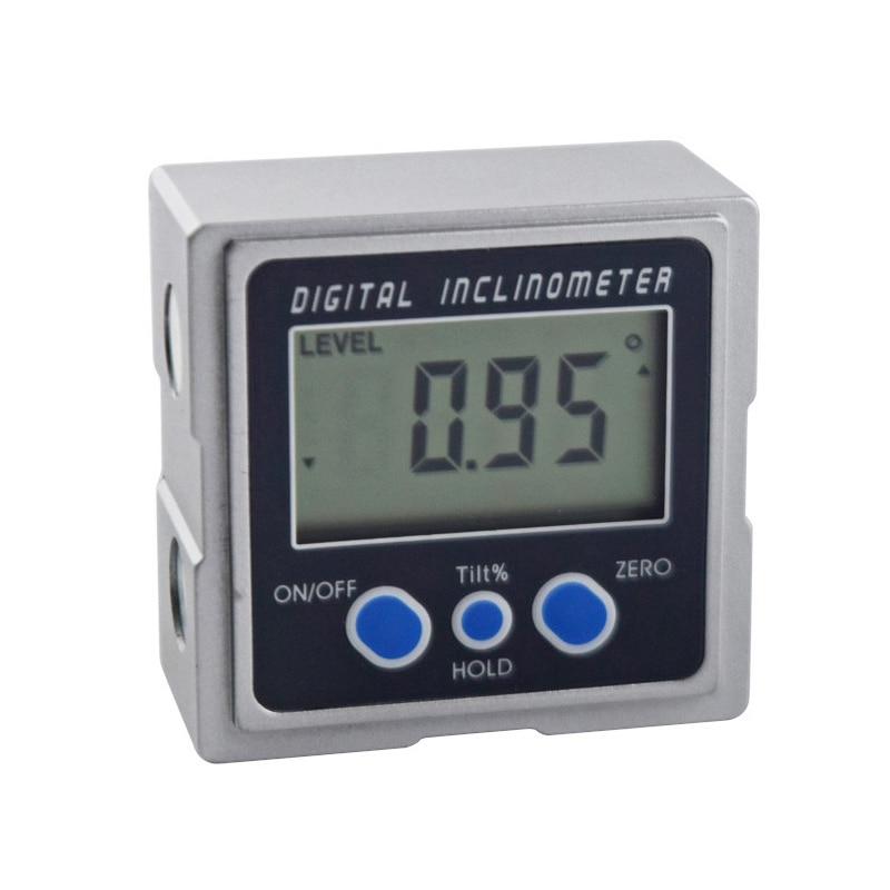 Numérique Inclinomètre Électronique Goniomètres Rapporteur Niveau Mini Portable 360 Angle Gauge Compteur De Mesure Outils De Nivellement