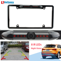 170 View Angle Car Rearview Back up Reverse Parking Camera With US License Plate Frame 8 IR LEDs Night Vision Cam